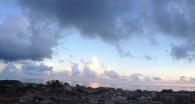 Cumuli al tramonto a Caulonia