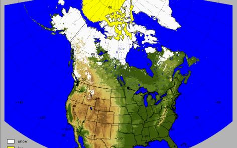 Copertura nevosa nordamerica
