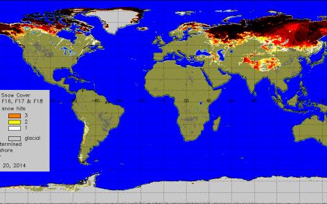Copertura nevosa globale  con numero di giorni nevosi