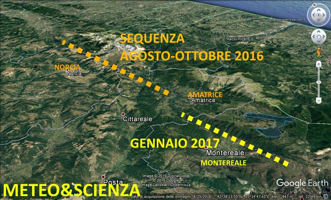 area terremoto